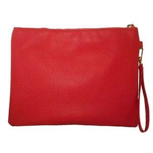 Under One Sky Bags - Under One Sky Laser Cut Flower Red Wristlet Bag